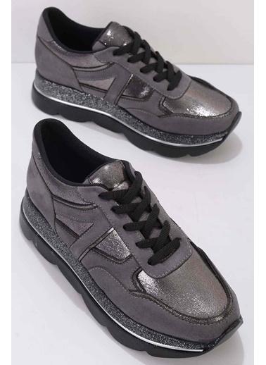 Bambi Kadın Sneaker K01763044065 Füme